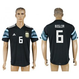 Argentina #6 Biglia Away Soccer/Football Country Jersey