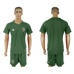 Argentina Blank Army Green Goalkeeper Soccer/Football Country Jersey