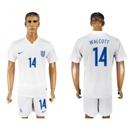 England #14 Walcott Home Soccer/Football Country Jersey