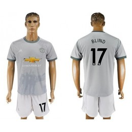 Manchester United #17 Blind Sec Away Soccer/Football Club Jersey