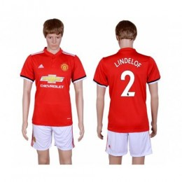 Manchester United #2 Lindelof Red Home Soccer/Football Club Jersey