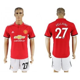 Manchester United #27 Fellaini Red Home Soccer/Football Club Jersey