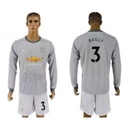 Manchester United #3 Bailly Sec Away Long Sleeves Soccer/Football Club Jersey
